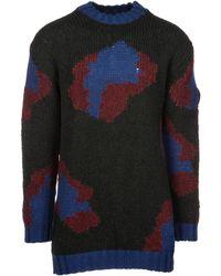f4ee591218d Tri-color Pattern Sweater - Black