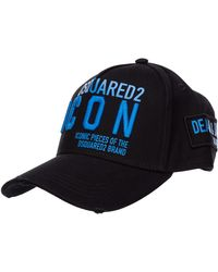 DSquared² Adjustable Men's Cotton Hat Baseball Cap Baseball Icon - Black