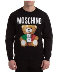 Moschino Men's Sweatshirt Sweat Teddy Bear - Black