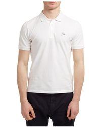 C.P. Company Polo t-shirt maglia maniche corte uomo classic logo - Bianco