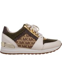 Michael Kors Women's Shoes Leather Sneakers Sneakers Billie - Multicolor