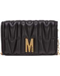Moschino Women's Wallet Coin Case Holder Purse Card Bifold - Black