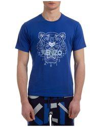 KENZO T-shirt maglia maniche corte girocollo uomo tiger - Blu