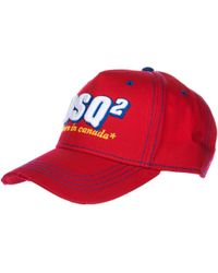 DSquared² Adjustable Men's Cotton Hat Baseball Cap Baseball - Red