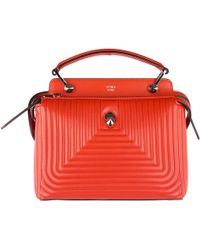 Fendi - Leather Handbag Shopping Bag Purse Dot Com Small Nappa Shiny - Lyst
