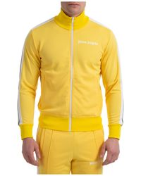 Palm Angels Men's Sweatshirt With Zip Sweat - Yellow
