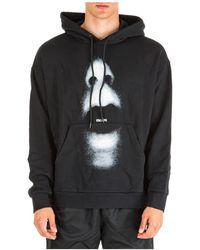 Marcelo Burlon Men's Hoodie Sweatshirt Sweat Mouth Over - Black
