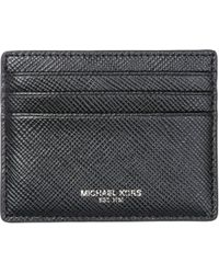 Michael Kors Men's Genuine Leather Credit Card Case Holder Wallet Harrison - Black