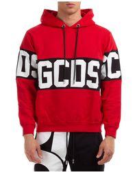 Gcds Felpa con cappuccio uomo band logo - Rosso