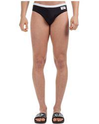 Emporio Armani Men's Brief Swimsuit Bathing Trunks Swimming Suit - Black
