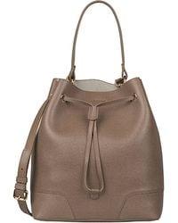 Prada Vitello Daino Medium Wide-strap Hobo Bag in Black (NERO) | Lyst