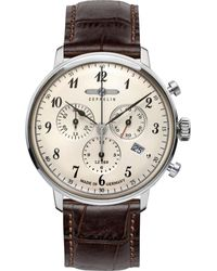 """ZEPPELIN Chronograph Hindenburg LZ 129 """"7086-4"""" - Mettallic"""