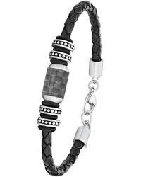 S.oliver Armband Leder und Edelstahl 2026108 - Schwarz