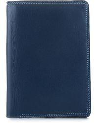 Mywalit Continental Wallet Geldbörse Leder 9 cm - Blau