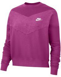 """Nike Sweatshirt """"Heritage Crew"""" - Lila"""