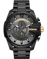DIESEL Chronograph Quarz Uhr mit Edelstahl Armband DZ4479 - Grau