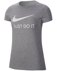 """Nike - T-Shirt """"JDI Swoosh"""" - Lyst"""