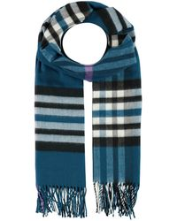 Fraas Cashmink®-Schal - The Plaid Made in Germany - Blau
