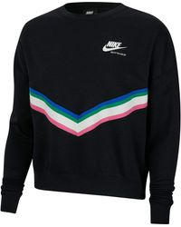 """Nike Sweatshirt """"Fleece Crew"""" - Schwarz"""