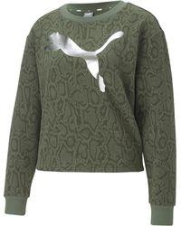"PUMA Sweatshirt ""Metallic Nights"" - Grün"