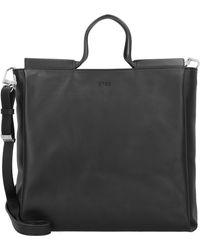 Bree Pure 9 Handtasche Leder 34 cm - Schwarz