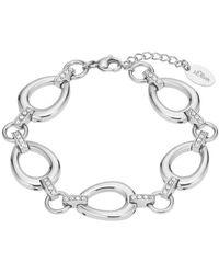 S.oliver Armband Edelstahl mit Kristallen von Swarovski® 2026193 - Mettallic