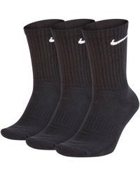 Nike Everyday Cush Crew 3er-Pack Trainingssocken - Schwarz