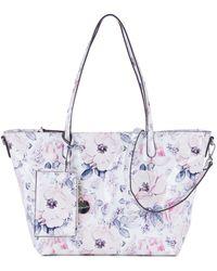 Tamaris Shopper Angelina Floral - Weiß