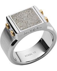 """DIESEL Ring """"DX1195040"""" - Mettallic"""