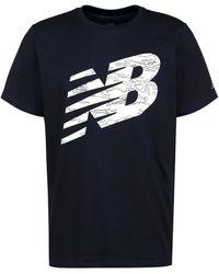 New Balance Graphic Heathertech Trainingsshirt - Blau