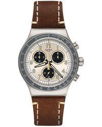 """Swatch Uhr """"Rhum"""" YVS455 - Braun"""