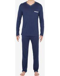 Hom Pyjama long Relax - Bleu