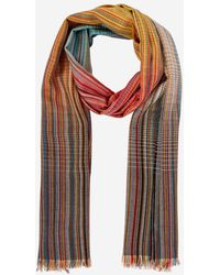 Paul Smith Echarpe rayée laine - Multicolore