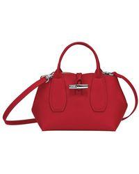 Longchamp Sac porté main S Roseau - Rouge