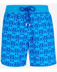 Vilebrequin Short de bain Moorea aquatique - Bleu