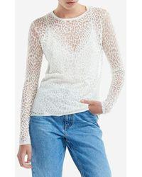Maje - T-shirt Thibault manches longues en dévoré - Lyst