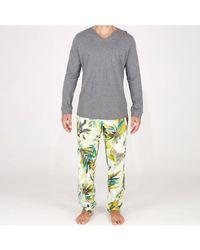 Hom Pyjama long Savannah - Gris