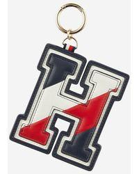 Tommy Hilfiger Porte-clés initiale H tricolore - Bleu