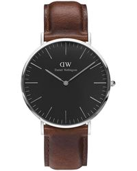 Daniel Wellington Montre Homme Black - Marron