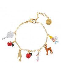 N2 Bracelet Multi Pampilles Blanche Neige Et Les 7 Nains - Rouge