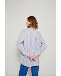 Leon & Harper Chemise Criquette Stripes - Bleu