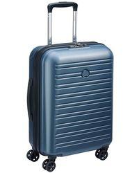 Delsey Valise rigide trolley cabine slim Segur 2.0 4R 55 cm - Bleu