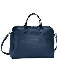 Longchamp Porte-documents Le Foulonné - Bleu