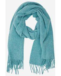 Polo Ralph Lauren Echarpe laine vierge bleu vintage