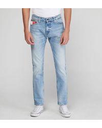 Tommy Hilfiger Jean Scanton slim stretch bleached Ligne Tommy Jeans - Bleu