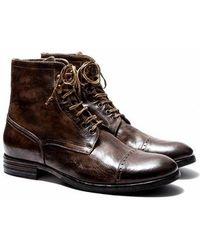 Pete Sorensen Boots rangers en cuir DETROIT - Marron
