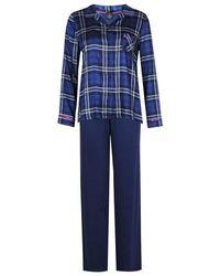 Lingerie LE CHAT Pyjama boutonné DARLING 306 - Bleu