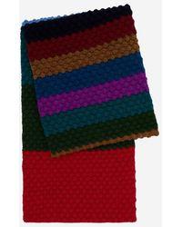 Paul Smith - Echarpe point mouche bandes colorées - Lyst