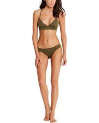 Seafolly Culotte de maillot de bain Quilted - Vert