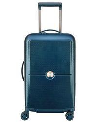 Delsey Valise rigide cabine trolley Turenne 4R 55 cm - Bleu